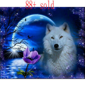 5D-Full-Diamond-Painting-Animal-DIY-Embroidery-Cross-Stitch-Wolf-Home-Decor-Kit