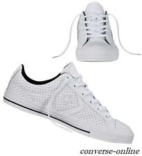 Women Boy CONVERSE All STAR PLAYER PERFORATED LEATHER OX Trainers Shoe UK SIZE 3