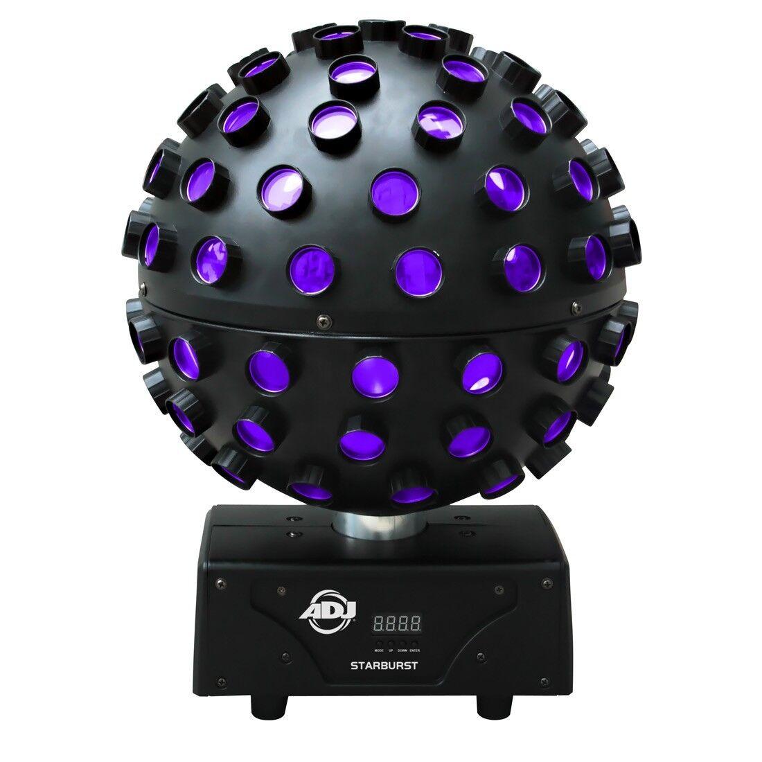 American DJ ADJ Starburst LED RGBWAP Light Effect Mirrorball Revolving 5 x 15W