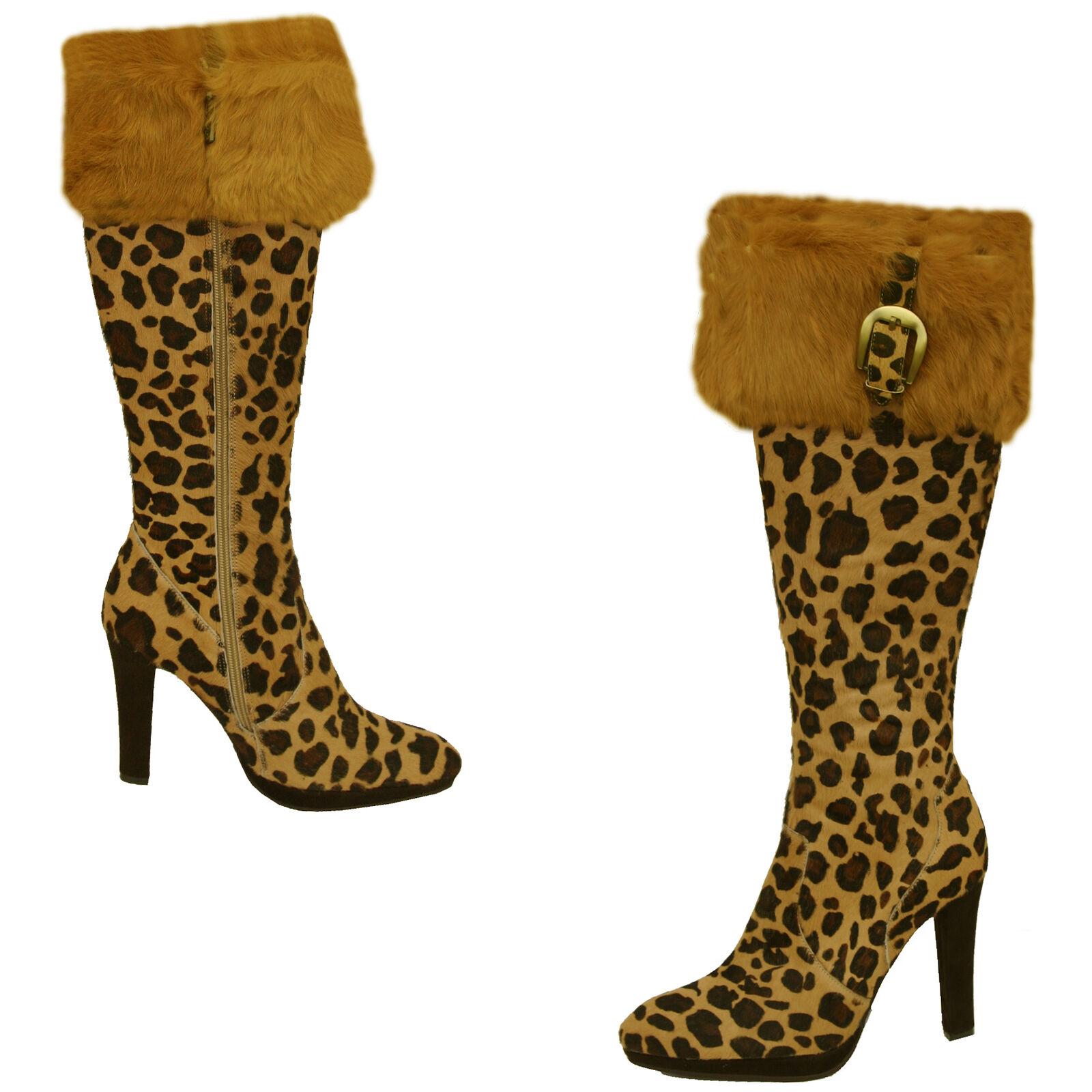 Cochni Alto Vestido Vestido Vestido botas Para Mujeres-Leopardo  ordene ahora los precios más bajos