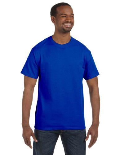 New Men/'s Gildan Heavy Cotton Blank T-shirt Plain Solid Heavy Weight S-3XL Crew