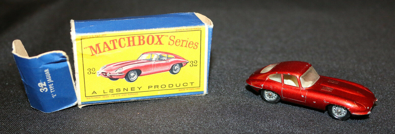 Matchbox Series by Lesney - Made in England - 1962 'E' Type Jaguar