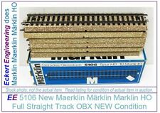 EE 5106 New Marklin HO 5106 M Full Straight Track Box of 10 Tracks with OBX