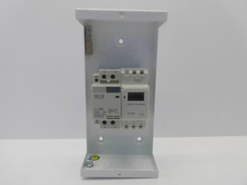 7 DAY 24 HOUR TIME SWITCH DIGITAL CONTACTOR 63 AMP 2 POLE SINGLE PHASE 12KW