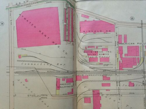 1925 BROMLEY PHILADELPHIA PA FERNHILL ATWATER KENT MFG CO COPY PLAT ATLAS MAP