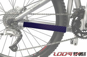 Mountain-Bike-Chain-Protector-Frame-Guard-Blue-Carbon-Zoom-Sport