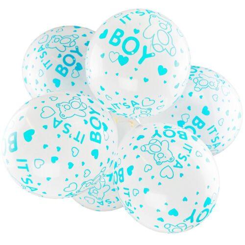 """12/"""" globos de látex blanco-es un chico-Baby Shower Globos-Paquete de 10"""