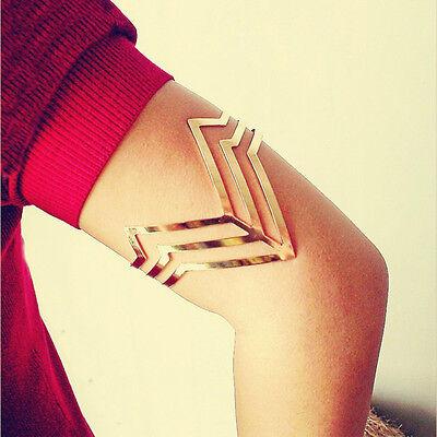 Egypt Punk Triple Cut Out Triangle Upper Arm Cuff Armlet Armband Bangle Bracelet