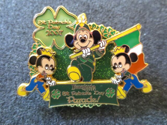 DLR St. Patrick's Day 2007 Mickey Leads the Parade Disney Trading Pin LE 750