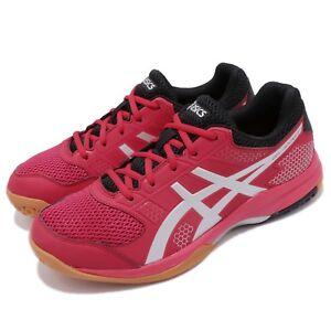 Asics-Gel-Rocket-8-Samba-Red-Silver-Gum-Men-Volleyball-Badminton-Shoes-B706Y-600