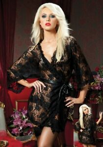 Stunning Luxurious Lace Gown and Matching Underwear Set, One size (fits UK 8-12)