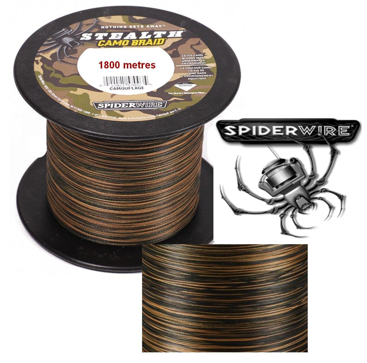 TRESSSE SPIDERWIRE 1800M STEALTH CAMOU BRAID 0.30  23KG  OU 0.40  53.6KG
