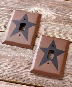 Single Light Switch Plates Primitive Country Star Hardware Home Decor Set Of 2 190941104872 Ebay