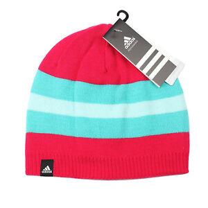 La imagen se está cargando Adidas-Ess-Mujer-Esqui-Reversible-Gorro-Beanie -Punto- fe477f3557e