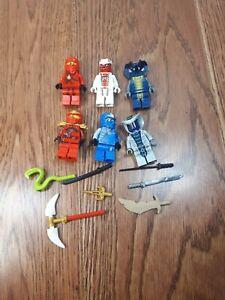 Lego-Ninjago-Minifigures-Snakes-Snappa-Slithraa-Rattla-Jay-Kai
