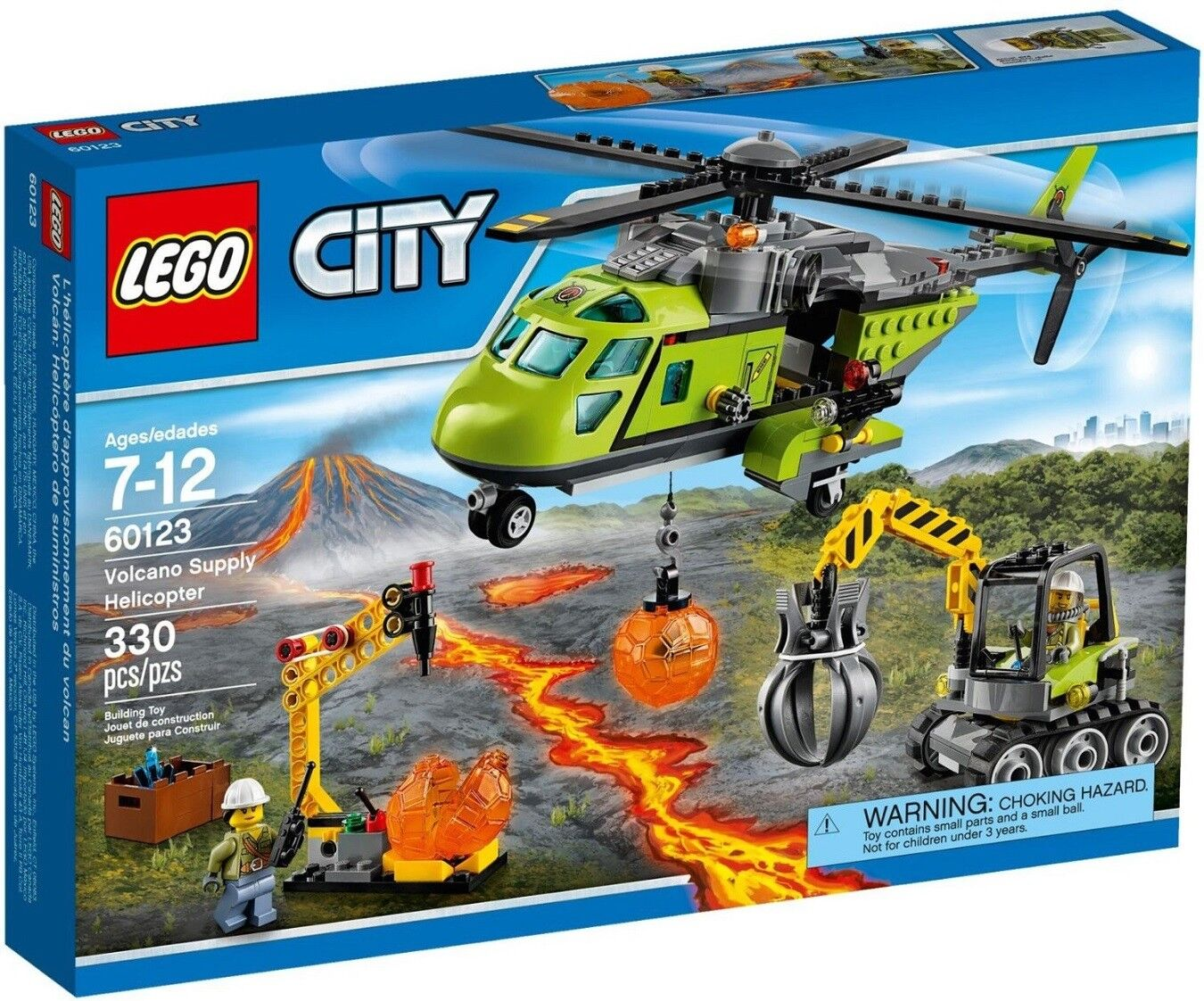 Lego - City - 60123 - HELICÓPTERO Del Volcán