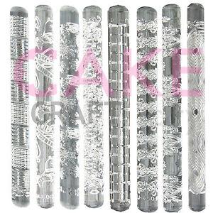 Texture Gaufrage Acrylique Rolling Pin Divers Modèles Pour Gâteau Glaçage Décoration-afficher Le Titre D'origine