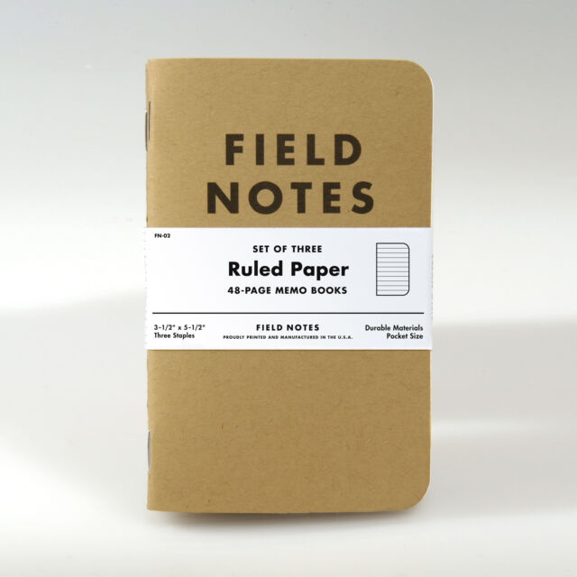 Field Notes Brand: Kraft Ruled Paper Memo Books, 3 Pack