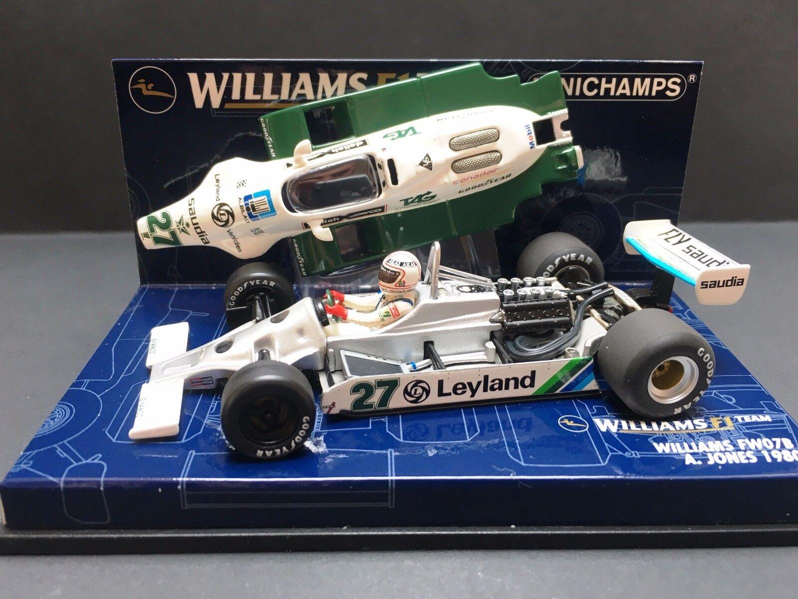 Minichamps -  Alan Jones - Williams - FW07B - 1980 - World Champion - 1 43 -Rare
