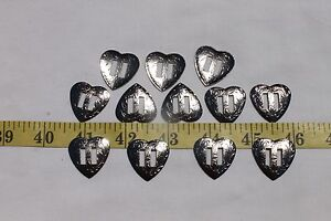 Slotted-Western-Heart-Silver-Color-Conchos-Crafts-Leathercraft-1-inch-12pcs