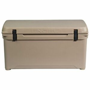 Engel 80 High Performance 18.5 Gallon 75 Can Roto Molded Plastic Ice Cooler, Tan