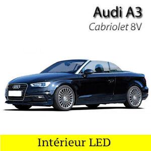 Kit-ampoules-a-LED-pour-l-039-eclairage-interieur-blanc-AUDI-A3-8V-cabriolet
