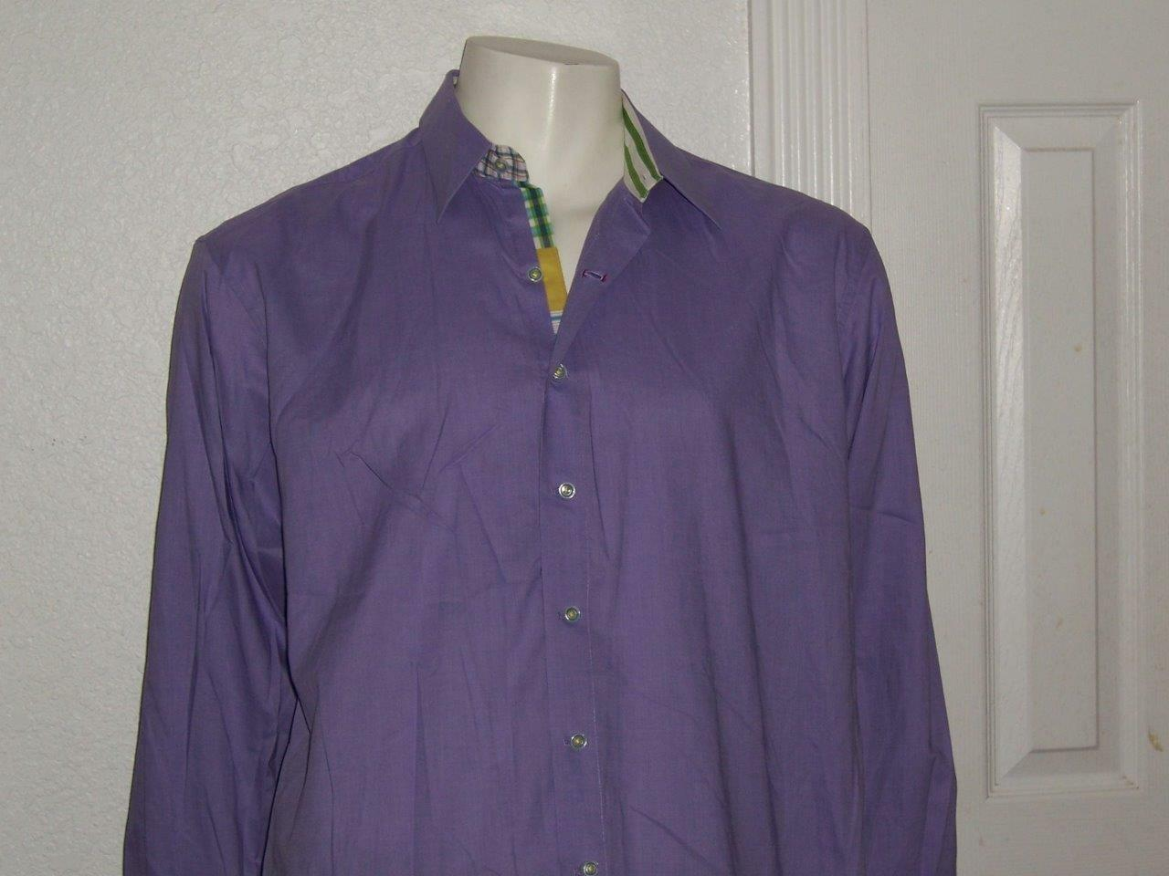 Uomo'S ROBERT GRAHAM LONG X LAVENDER LONG GRAHAM SLEEVE DRESS SHIRT SIZE 2XL eb1671