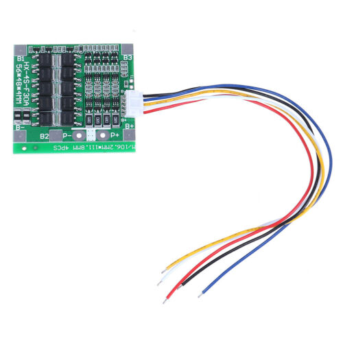 4S 30A 14.8V Li-ion Lithium Battery BMS PCB Protection Board Cell Balance.