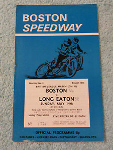 BOSTON-SPEEDWAY-ORIGINAL-PROGRAMME-1972-v-LONG-EATON-14th-MAY-9th-MEETING