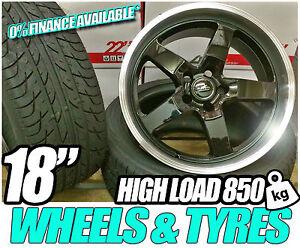 18-poli-Bague-Roues-alliage-pneu-VW-T4-5X112-T5-T6-5X120-TRANSPORTER-850kg