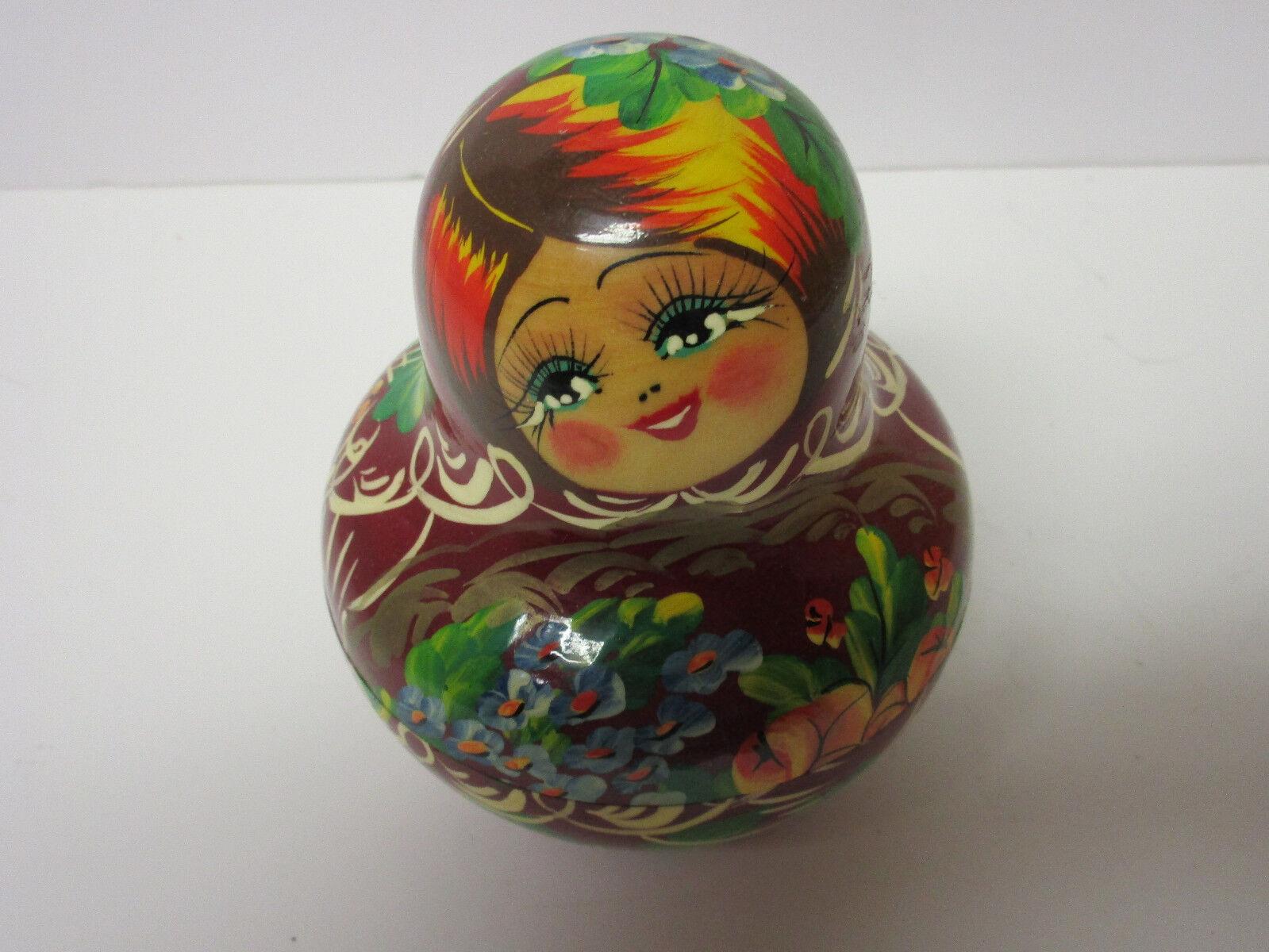 Firmado Raro Antiguo Pintado A Mano 10 muñecas de anidación de Rusia, Excelente Estado