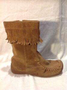 pierna media a talla de Clarks 5 botas Brown gamuza WOqxY6S
