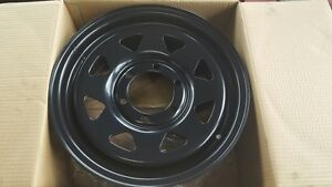 To-Suit-Mazda-BT50-Ford-Ranger-After-Market-16x7-Black-Sunraysia-Style-Steel-Rim
