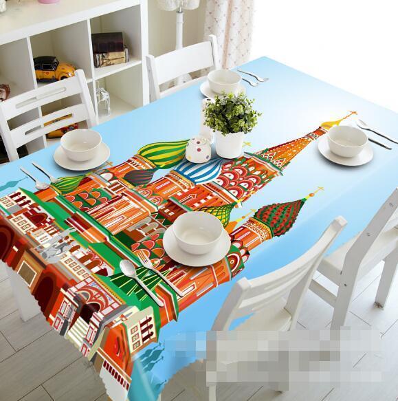 3D Pretty Church Tablecloth Table Cover Cloth Birthday Party Event AJ WALLPAPER