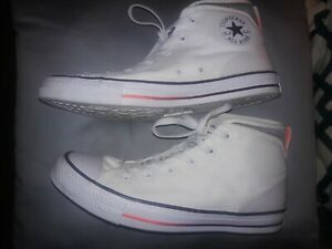 Details about converse custom all stars white orange high tops chuck taylor 10.5 8.5 eur 42
