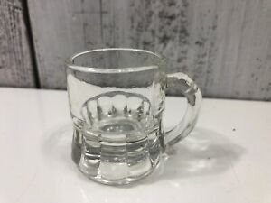 Vintage-Federal-Shot-Glass-2-034-Mini-Root-Beer-Mug-Clear-Good-Used-Condition