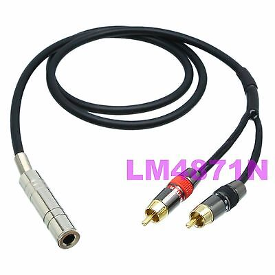 """CANARE DIY Y Leads L-4E6S 6.35mm jack stereo TRS to 2x 6.35mm 1//4/"""" plug mono TS"""