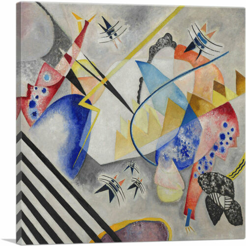 ARTCANVAS White Center 1921 Canvas Art Print by Wassily Kandinsky