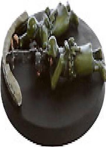 Axis /& Allies miniatures 1x x1 #035 Sandbagged Machine-Gun Team D-Day NM with ca