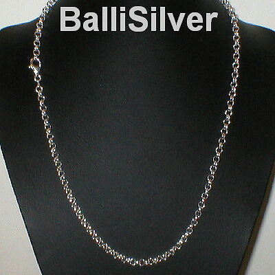 """Silver 4.7mm Thick /& Heavy ROUND ROLO Necklace 22/"""" St"""