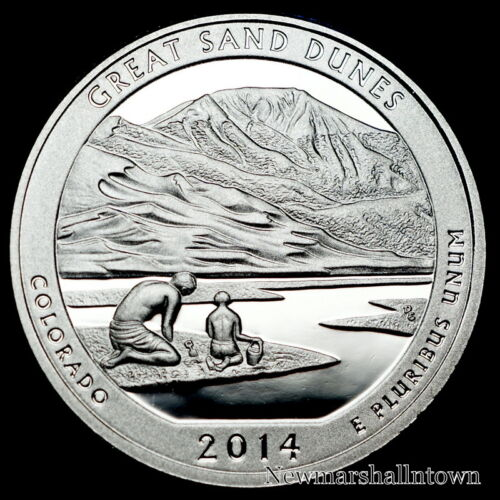 Coin from Original Set 2014 S  Great Sand Dunes Colorado ~ Mint Clad Proof U.S