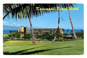 Details About Kaanapali Beach Hotel Postcard West Maui Hawaii Golf Course Palm Trees Vintage