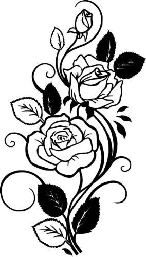 9x5 Roses vinyl decal sticker for car//truck laptop window custom