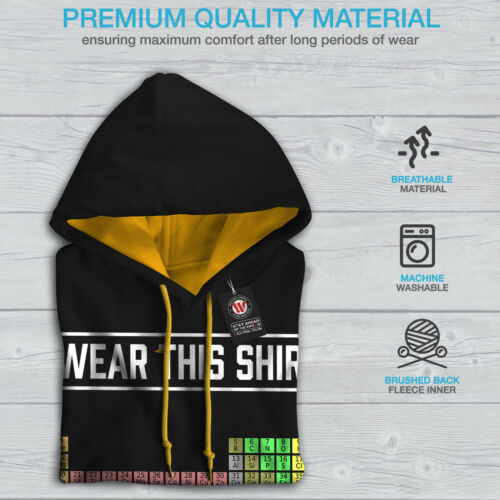 Black Hoodie This New I Wear gold Contrast Shirt Hood Men 6xqwwnHpAf