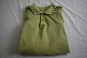 LL-Bean-Men-039-s-Large-Green-Short-Sleeve-Polo