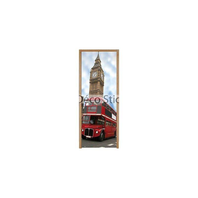 Adhesivo para Puerta Plana Autobús Londres 83x204cm Ref 202 4547dd5f98bd