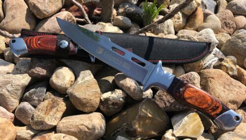 M5 Columbia Jagdmesser Outdoor Edelstahl Rostfrei Bowie Messer Camping Angeln