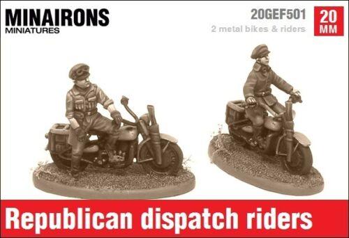 Minairons 1:72 republican dispatch riders 20mm english civil war