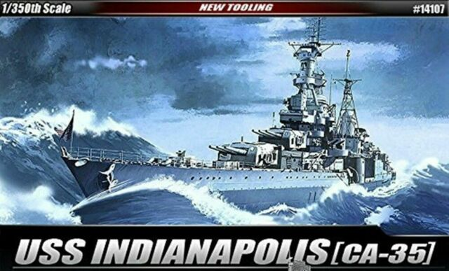 [Academy] #14107 1/350 USS CA-35 Indianapolis Military Ship