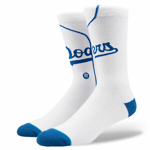 Stance-Hombre-Dodgers-Home-Calcetines-Bnwt-Blanco